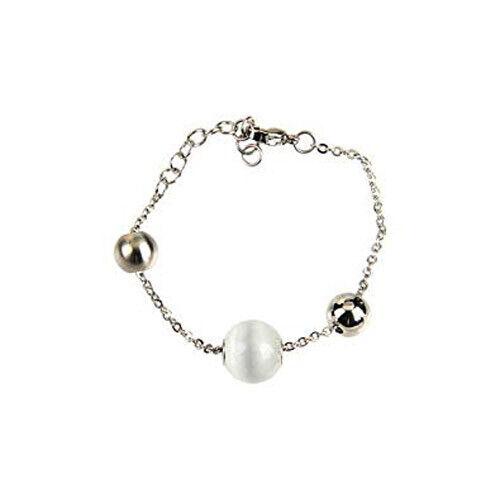 BREIL TJ0915 CHAOS Damen Edelstahl Silber Armkette Armband mit Quarz Anhänger