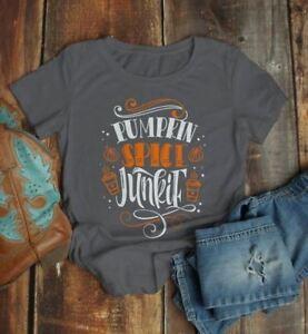 e3ba7bfe7 Women's Pumpkin Spice T Shirt Pumpkin Spice Junkie Tee Fall Shirts ...