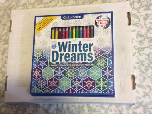Winter Dreams-24 Color Pencils /& 48 sheets /& sharpener NEW!