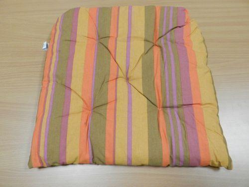 4 Cuscini coprisedia con velcro coordinato 03 40x40 cm cuscino nuovo copri sedia