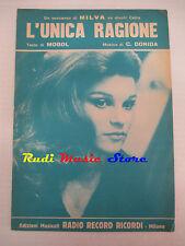 MILVA Unica ragione 1964 RARO SPARTITO SINGOLO italy RICORDI cd lp dvd mc