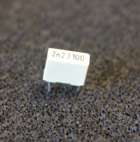 5 x 2.2 nF POLY PAC 100 V 2n2f 5 PEZZI l3185