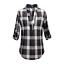 Ladies-Nicola-Checked-Shirt-Tops-Womens-T-Shirts-Cotton-Blouse-UK-8-14-16-18-20 thumbnail 20