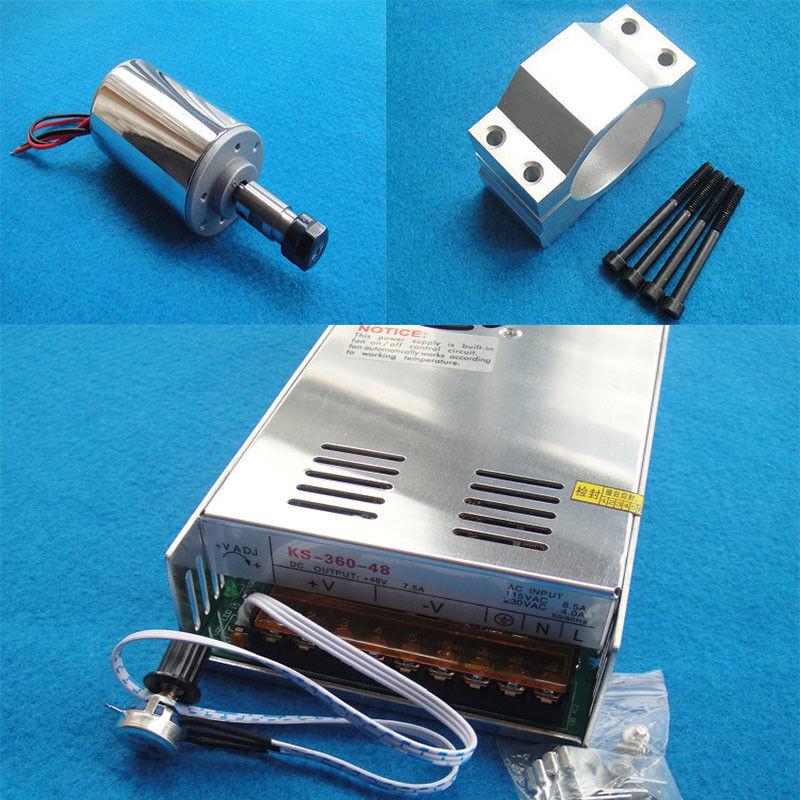 DC12-48V Luftgekühlt CNC Gravur Spindel Motor Gravur Fräsen 200W ER11 3.175mm