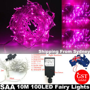 SAA-10M-100-LED-Pink-String-Fairy-Lights-Strip-Wedding-Party-Christmas-Tree-Deco