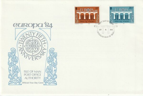 2019 Nouveau Style Iom 27 Avril 1984 Europa'84 25th Ann Official First Day Cover Douglas Shs (d)