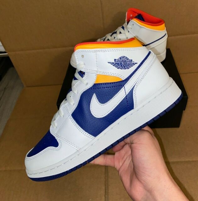 jordan 4 blue and orange
