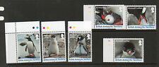 BRITISH ANTARCTIC TERRITORY 2016 PENGUIN AIRMAIL LETTER SET UM/MNH