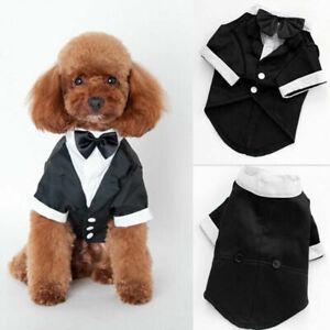 Mascota-perro-traje-de-boda-traje-smoking-corbata-de-mono-Cachorro-Ropa-de-Disfraz-Capa-Top-Casual