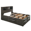 thumbnail 4 - NEW Gray Storage Queen King Bedroom Set Contemporary Modern Furniture Bed/D/M/N