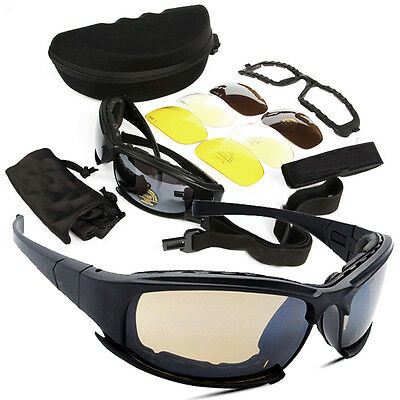 Tactical Daisy X7 Glasses Military Goggles Army Sunglasses With 4 Lens Polarized