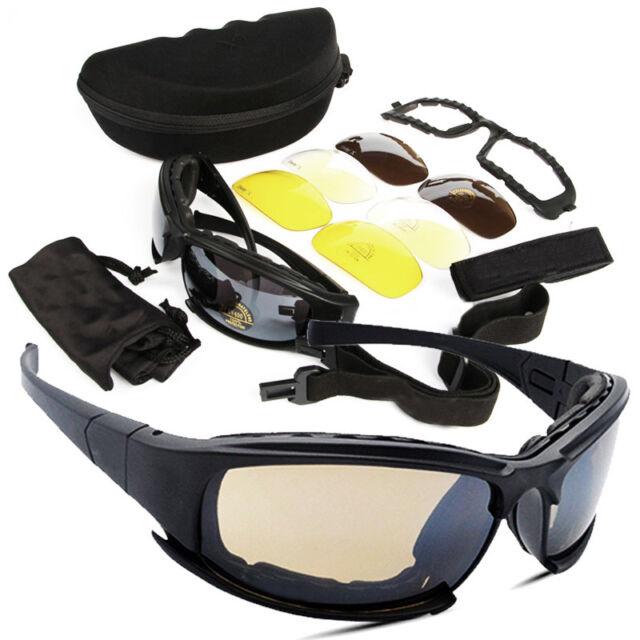 Daisy X7 Military Tactical Goggles Polarized Army Military Sunglasses 4 Lens Kit