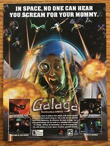 Galaga-Destination-Earth-GBA-2000-Vintage-Game-Poster-Ad-Art-Print-Nintendo