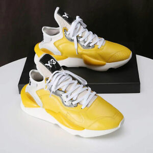 9ae38dde83b36 New Y3 Kaiwa Yohji Yamamoto Sneakers Men s Yellow Qasa High Boost ...