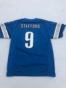 newest d144d 6b5d8 Details about Nike On Field Elite Boys Sz XL Detroit Lions #9 Sewn Matthew  Stafford Jersey