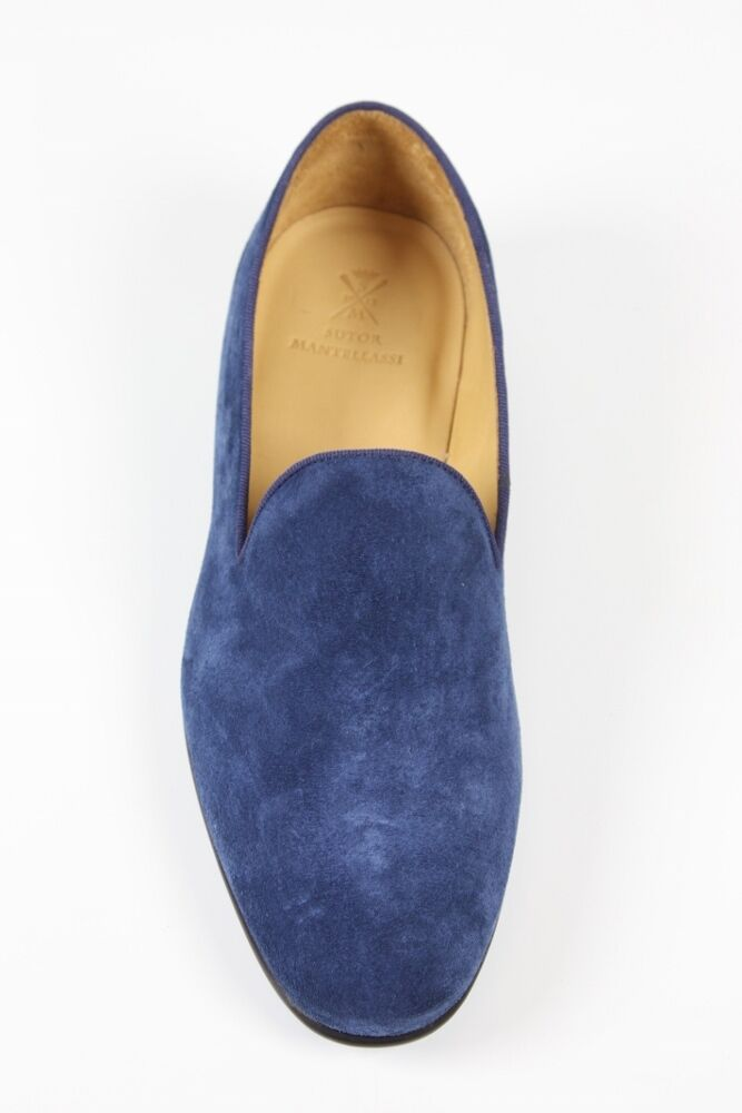 Sutor Mantellassi schuhe suede Blau suede schuhe slip-on loafers d79b89