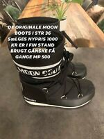 Støvler, str. 36, Moon boots original , Sort