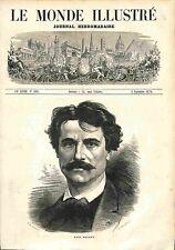 Paul Baudry PEINTRE FRANCE GRAVURE ANTIQUE PRINT 1874