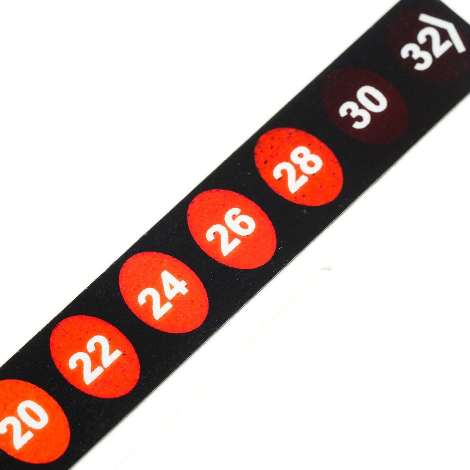 10 - 32 Degree Room Temperature Sticker Label 12 Level Indicator Temp Strip Heat
