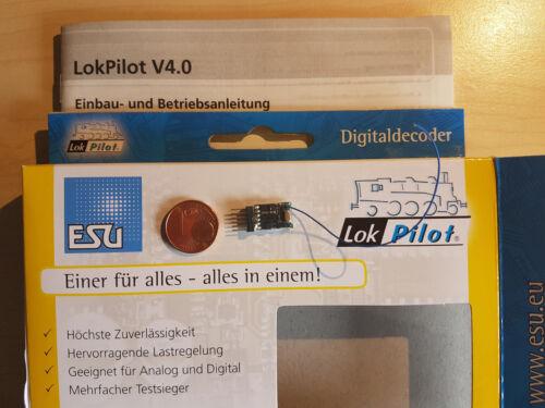 ESU 54685 LokPilot micro Décodeur v4 DCC 6pol Connecteur directement Nouveau neuf dans sa boîte