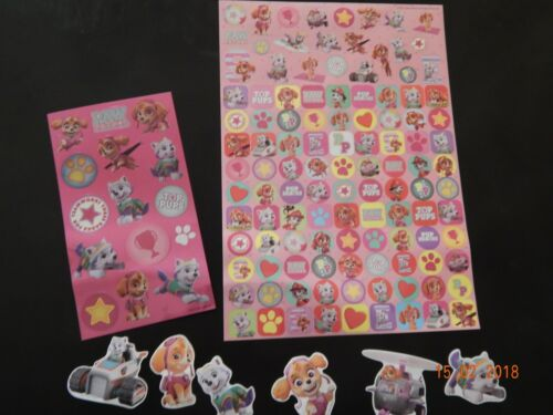 Mega pack Pink PAW PATROL Stickers!! Gift Party! Birthday