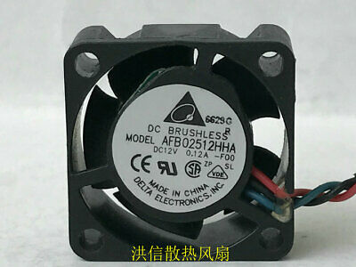Delta AFB02512HHA 12V 0.12A 3-wire double ball cooling fan 2510