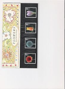 1987-ROYAL-MAIL-PRESENTATION-PACK-FLOWERS-BY-LAMMER-MINT-DECIMAL-STAMPS
