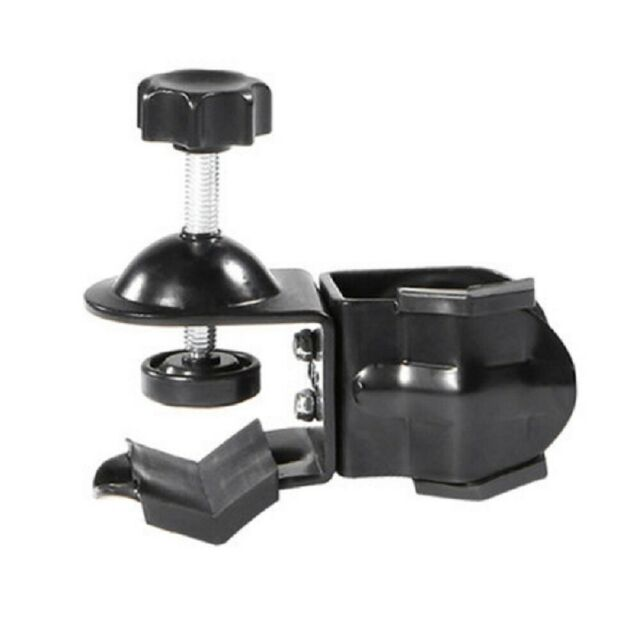 Universal Dual U-Shaped Clamp Clip Bracket Photo Studio Light Stand Pole Bar