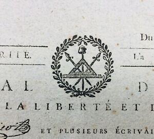 Rare-Journal-Revolution-Francaise-1793-Danton-Cuges-les-Pins-Philippe-d-Orleans