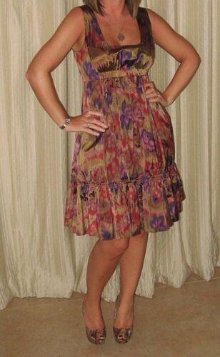 Dkny print patroon roze Vk paars abstracte 8 jurk Multi goud r1IOYxnr