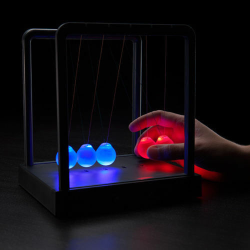 LED Light Illuminating Newton's Cradle Executive Toy Gift Desktop Cradle
