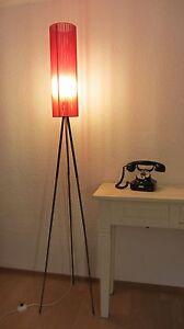 Details Zu Stylische Tripod Lampe Stehlampe Messing Stativ Nylon Zylinder Lampenschirm