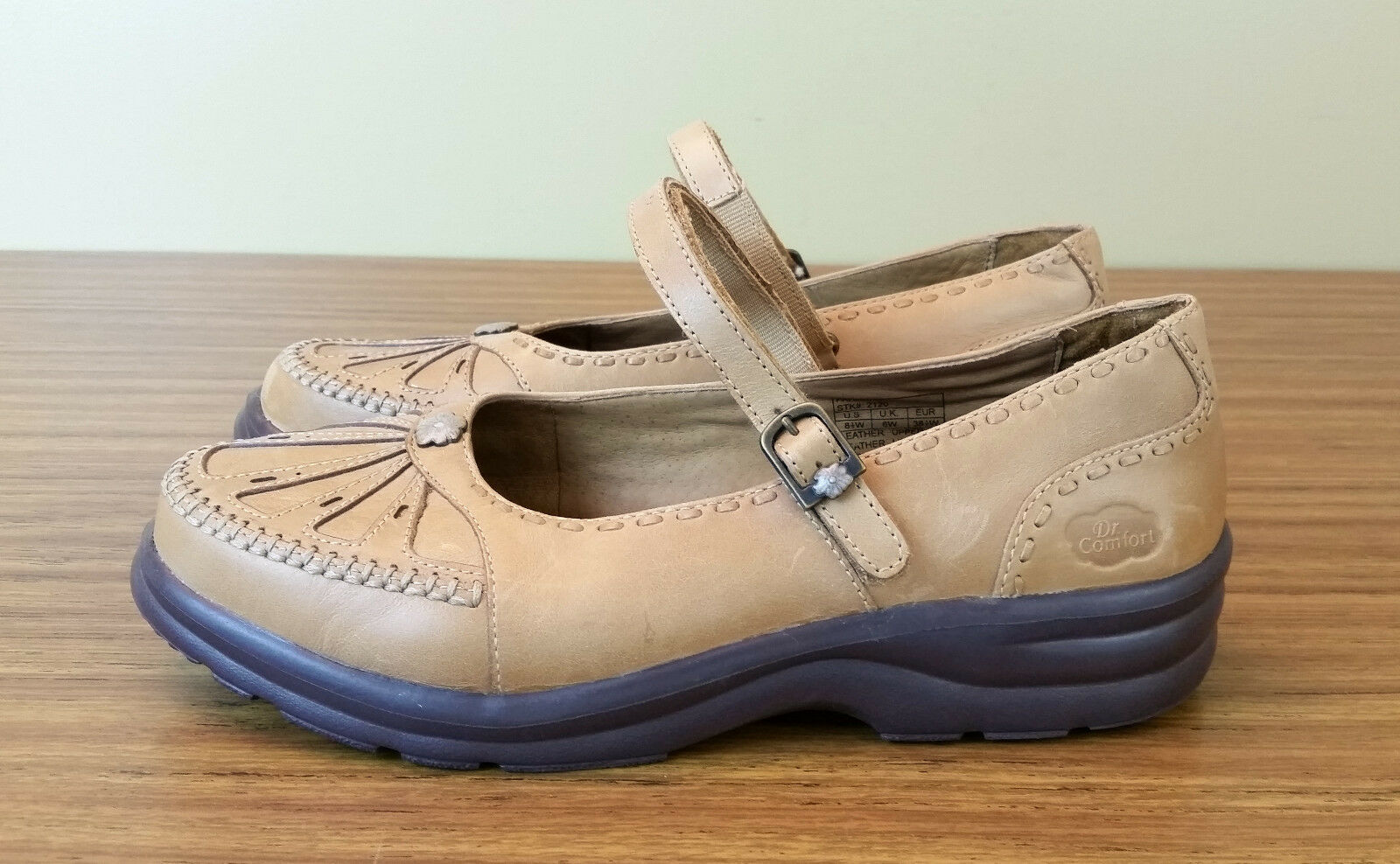 Dr Comfort Comfort Comfort Paradise Mary Janes 8.5 Wide Saddle Tan 4aaf35