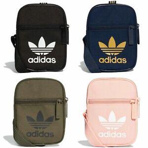 Vago mínimo Mantenimiento  Adidas Originals Trefoil Festival Bolso Negro/Rosa/de color caqui/azul  marino Bandolera Hombro | eBay