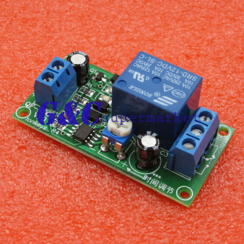 2PCS DC 12V NE555 0~60 Seconds Delay Timer Time Switch Adjustable Time Relay