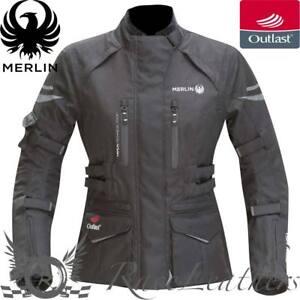 MERLIN-Gemini-Mujer-OUTLAST-Negro-Impermeable-Chaqueta-moto-motocicleta