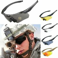 Ess Cross Military Goggles 5 Lens +box Ballistic Tactical Sunglasses With
