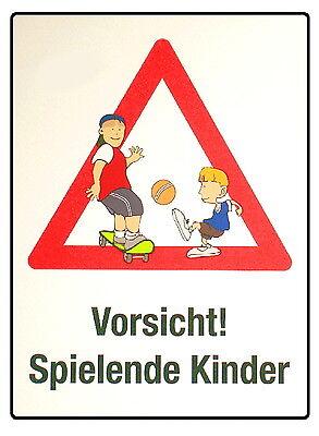 Vorsicht-spielende-Kinder-60 x 45 cm-Schild-2mm Hartalu ...