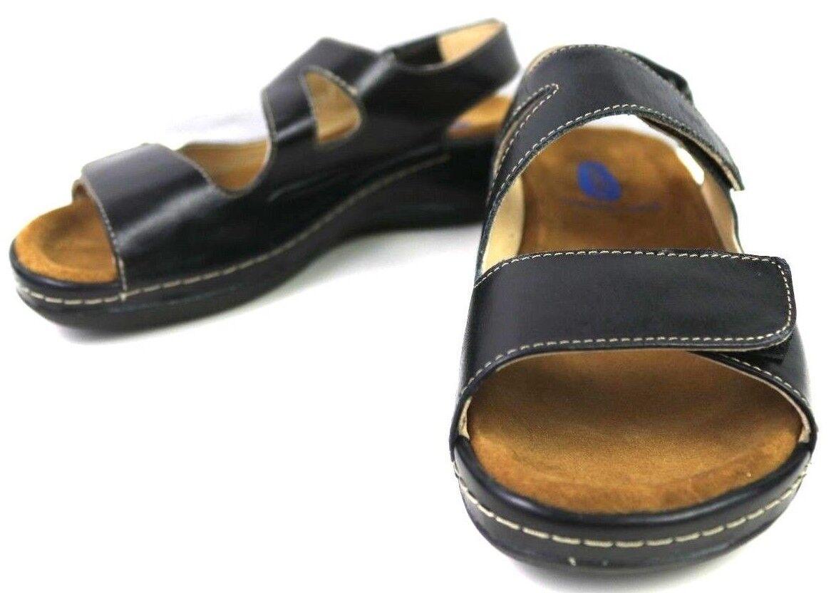 Wolky femme Liana Cuir Walking Sandales Noir US 5.5 EUR 36 UK 3 Z132