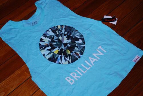 Supply Diamond Top medium Women's Brilliant New Tank Blue Co Soft 7wq5E
