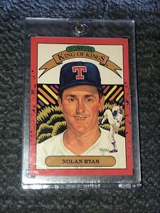 1990  NOLAN RYAN - Donruss King of Kings ERROR WRONG BACK Baseball Card # 659