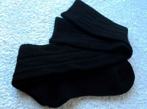 LADIES LONG BLACK BAMBOO COTTON MERINO WOOL OVER THE KNEE QUALITY SOCKS