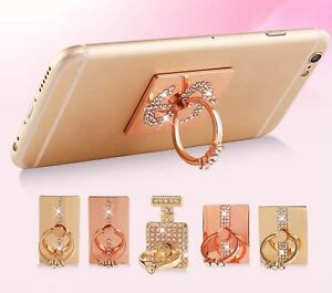 360-Bling-Diamante-Ring-Stand-Holder-4-All-Mobile-Phones-Tablet-iPhone-iPad-UK