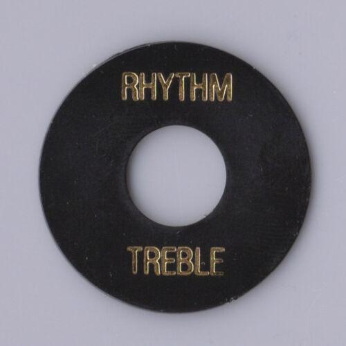 Les Paul Gitarren Pickup Wahlschalter Rhythm Treble Plate Schwarz Elfenbein oder