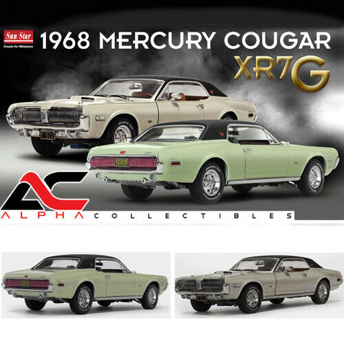SUNSTAR 1:18 1968 MERCURY COUGAR XR7G (SEAFOAM GREEN OR FAWN)