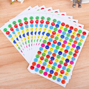Wholesale-Face-School-Teacher-Stickers-Reward-1120pcs-NEW-Merit-Smile-Children