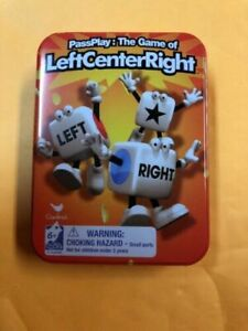 Left Center Right Dice Game Inside Game Travel Tin PRICE REDUCTION! Board & Traditional Games Games