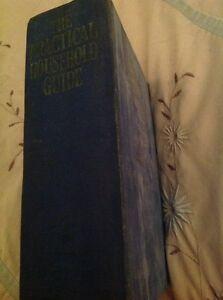 Vintage-Hardback-THE-PRACTICAL-HOUSEHOLD-GUIDE-Odhams-Press-Ltd-Illustrated