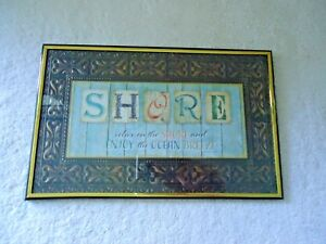 Vintage-Special-Moments-Memories-Collection-Wall-Art-034-SHORE-034-Framed-Picture