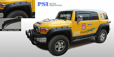 BLACK TEXTURED Pocket Rivet Bolt Fender Flares 2007-2014 Toyota FJ Cruiser